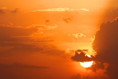 καθορισμένος ήλιος Στοκ εικόνα με δικαίωμα ελεύθερης χρήσης