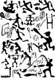 καθορισμένος αθλητισμός κινούμενων σχεδίων Στοκ Εικόνες