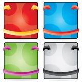 καθορισμένος διανυσματικός Ιστός στοιχείων χρώματος διαφήμισης ελεύθερη απεικόνιση δικαιώματος