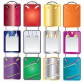 καθορισμένος διανυσματικός κάθετος Ιστός χρώματος εμβλημάτων διανυσματική απεικόνιση