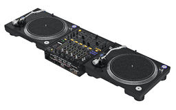 Καθορισμένος επαγγελματικός εξοπλισμός του DJ Στοκ Εικόνες