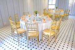καθορισμένος επιτραπέζιος γάμος συμβαλλόμενων μερών γεγονότος Στοκ Εικόνες