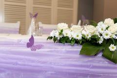 καθορισμένος επιτραπέζιος γάμος συμβαλλόμενων μερών γεγονότος Στοκ φωτογραφία με δικαίωμα ελεύθερης χρήσης