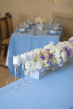 καθορισμένος επιτραπέζιος γάμος συμβαλλόμενων μερών γεγονότος Στοκ εικόνες με δικαίωμα ελεύθερης χρήσης