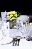 καθορισμένος επιτραπέζιος γάμος συμβαλλόμενων μερών γεγονότος Στοκ Φωτογραφία