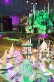καθορισμένος επιτραπέζιος γάμος Στοκ εικόνα με δικαίωμα ελεύθερης χρήσης