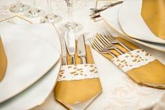 καθορισμένος επιτραπέζιος γάμος arrangment Στοκ Φωτογραφία