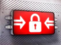 καθορισμένος διανυσματικός Ιστός κλειδωμάτων εικονιδίων Στοκ Εικόνα