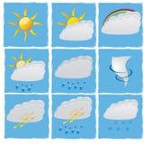 Καθορισμένος διανυσματικός καιρός Στοκ εικόνα με δικαίωμα ελεύθερης χρήσης