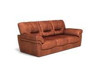 καθορισμένος καναπές καθιστικών δέρματος επίπλων Στοκ φωτογραφία με δικαίωμα ελεύθερης χρήσης