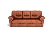 καθορισμένος καναπές καθιστικών δέρματος επίπλων Στοκ Εικόνα