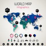 καθορισμένος κόσμος χαρτών πληροφοριών infographics γραφικής παράστασης στοιχείων Στοκ φωτογραφία με δικαίωμα ελεύθερης χρήσης