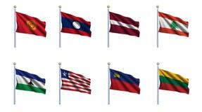 καθορισμένος κόσμος 13 σημαιών ελεύθερη απεικόνιση δικαιώματος