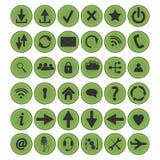 Καθορισμένος κύκλος εικονιδίων Στοκ φωτογραφίες με δικαίωμα ελεύθερης χρήσης