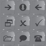καθορισμένος λαμπρός Ιστός γυαλιού κουμπιών ελεύθερη απεικόνιση δικαιώματος