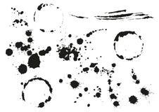 Καθορισμένος μαύρος λεκές splotch Κυκλικός λεκές απεικόνιση αποθεμάτων