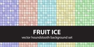 Καθορισμένος πάγος φρούτων σχεδίων Houndstooth Στοκ Φωτογραφία