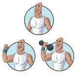 Καθορισμένος υγιής αθλητικός μυϊκός ατόμων ελεύθερη απεικόνιση δικαιώματος
