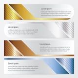 Καθορισμένος χρυσός εμβλημάτων προτύπων, χαλκός, ασημένιο, μπλε χρώμα Στοκ Εικόνα
