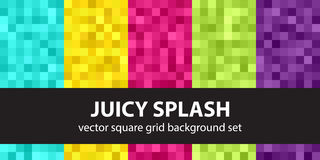 Καθορισμένος Juicy παφλασμός σχεδίων εικονοκυττάρου Στοκ φωτογραφίες με δικαίωμα ελεύθερης χρήσης