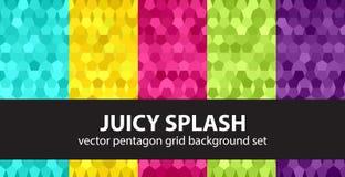 Καθορισμένος Juicy παφλασμός σχεδίων Πενταγώνου Στοκ εικόνες με δικαίωμα ελεύθερης χρήσης