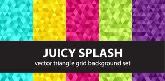 Καθορισμένος Juicy παφλασμός σχεδίων τριγώνων Στοκ Εικόνα