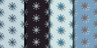 Καθορισμένο άνευ ραφής υπόβαθρο σχεδίων με snowflakes Στοκ φωτογραφία με δικαίωμα ελεύθερης χρήσης