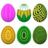 Καθορισμένο αυγό Πάσχας διανυσματική απεικόνιση