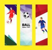 Καθορισμένο αφηρημένο αθλητικό έμβλημα σε ένα ελαφρύ φωτεινό υπόβαθρο ποδόσφαιρο Π Στοκ Εικόνες