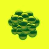 Καθορισμένο αφηρημένο υπόβαθρο σφαιρών μορίων Στοκ Εικόνα