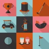 Καθορισμένο γκολφ εικονιδίων Στοκ Εικόνες