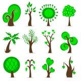 καθορισμένο δέντρο σχεδί&o διανυσματική απεικόνιση
