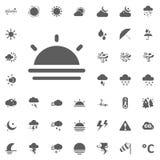 καθορισμένο διάνυσμα ήλιων llustration εικονιδίων Καιρικά διανυσματικά εικονίδια καθορισμένα Στοκ Εικόνες