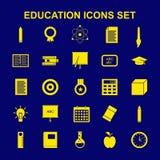 Καθορισμένο διάνυσμα εικονιδίων εκπαίδευσης Στοκ εικόνες με δικαίωμα ελεύθερης χρήσης