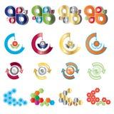 καθορισμένο διάνυσμα λογότυπων χρώματος απεικόνιση αποθεμάτων