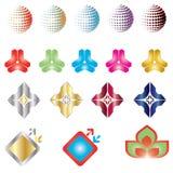 καθορισμένο διάνυσμα λογότυπων χρώματος διανυσματική απεικόνιση