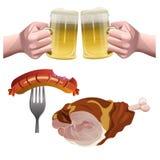 Καθορισμένο διάνυσμα μπύρας ελεύθερη απεικόνιση δικαιώματος