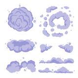 Καθορισμένο διανυσματικό επίπεδο διάνυσμα σκόνης καπνού ή κινούμενων σχεδίων απεικόνιση αποθεμάτων