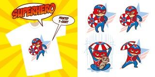 Καθορισμένο διανυσματικό σχέδιο απεικόνισης Superheroes χαρακτήρα Superhero στοκ φωτογραφία με δικαίωμα ελεύθερης χρήσης