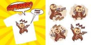 Καθορισμένο διανυσματικό σχέδιο απεικόνισης Superheroes χαρακτήρα Superhero στοκ φωτογραφίες