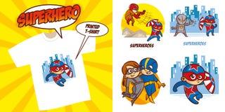 Καθορισμένο διανυσματικό σχέδιο απεικόνισης Superheroes χαρακτήρα Superhero στοκ φωτογραφίες με δικαίωμα ελεύθερης χρήσης