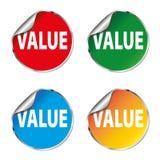 Καθορισμένο εικονίδιο αυτοκόλλητων ετικεττών χρώματος αξίας Στοκ φωτογραφία με δικαίωμα ελεύθερης χρήσης