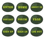 Καθορισμένο εικονίδιο θέματος κουμπιών υπολογιστών Στοκ Εικόνα