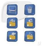 Καθορισμένο εικονίδιο θέματος κουμπιών υπολογιστών Στοκ Εικόνες