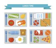 Καθορισμένο επίπεδο μεσημεριανό γεύμα ελεύθερη απεικόνιση δικαιώματος