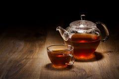 καθορισμένο επιτραπέζιο τσάι ξύλινο Στοκ εικόνα με δικαίωμα ελεύθερης χρήσης