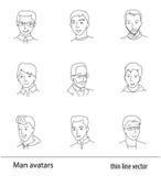 Καθορισμένο λεπτό διάνυσμα γραμμών ειδώλων ατόμων Στοκ εικόνα με δικαίωμα ελεύθερης χρήσης