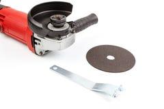 Καθορισμένο εργαλείο δύναμης που αλέθει και δίσκος κοπής Στοκ Φωτογραφία