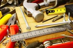 Καθορισμένο εργαλείο ξυλουργών πάγκων Στοκ Εικόνες