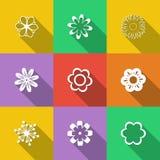 καθορισμένο διάνυσμα απεικόνισης κουμπιών floral Στοκ Εικόνα